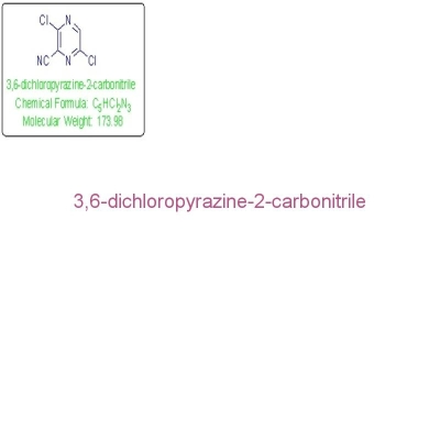 3,6-Dichloropyrazine-2-carbonitrile 99% Pale Yellow Solid