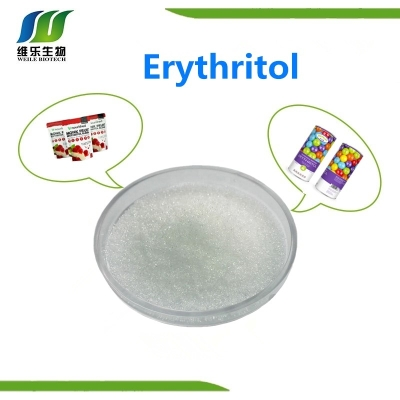 Low Calorie Natural Sweetener Erythritol  white crystalline or crystal powder, odor free, sweet  weile