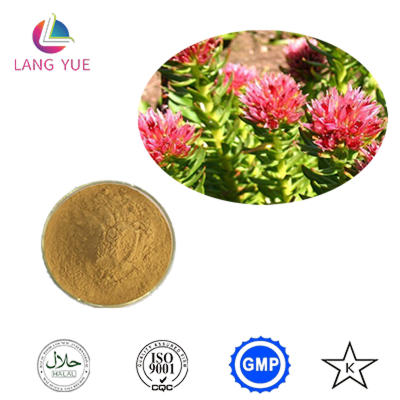 Rhodiola rosea extract rosavins 10%  Red brown powder Salidroside Langyue Rhodiola rosea extract rosavins